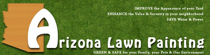 arizona lawn painting, color your lawn, dye turf green
